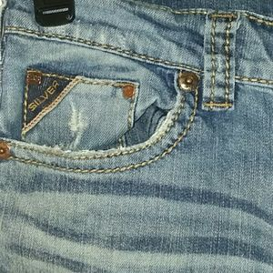 Silver Mens distressed bootcut jeans size 31x32